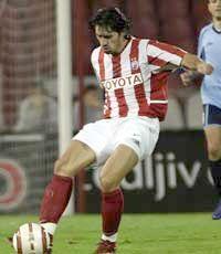 Milan Biševac u dresu Crvene zvezde