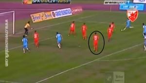 Maksina pozicija kod prvog gola Spartaka