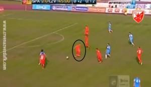 Maksina pozicija kod trećeg gola Spartaka