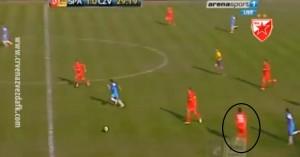 Maksina pozicija kod drugog gola Spartaka