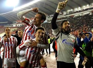 Славље након победе у дербију, фото званични сајт клуба