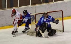 Detalj sa utakmice hokejasa Crvene zvezde i Spartaka