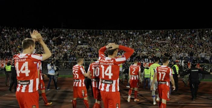 Igrači Crvene zvezde posle utakmice