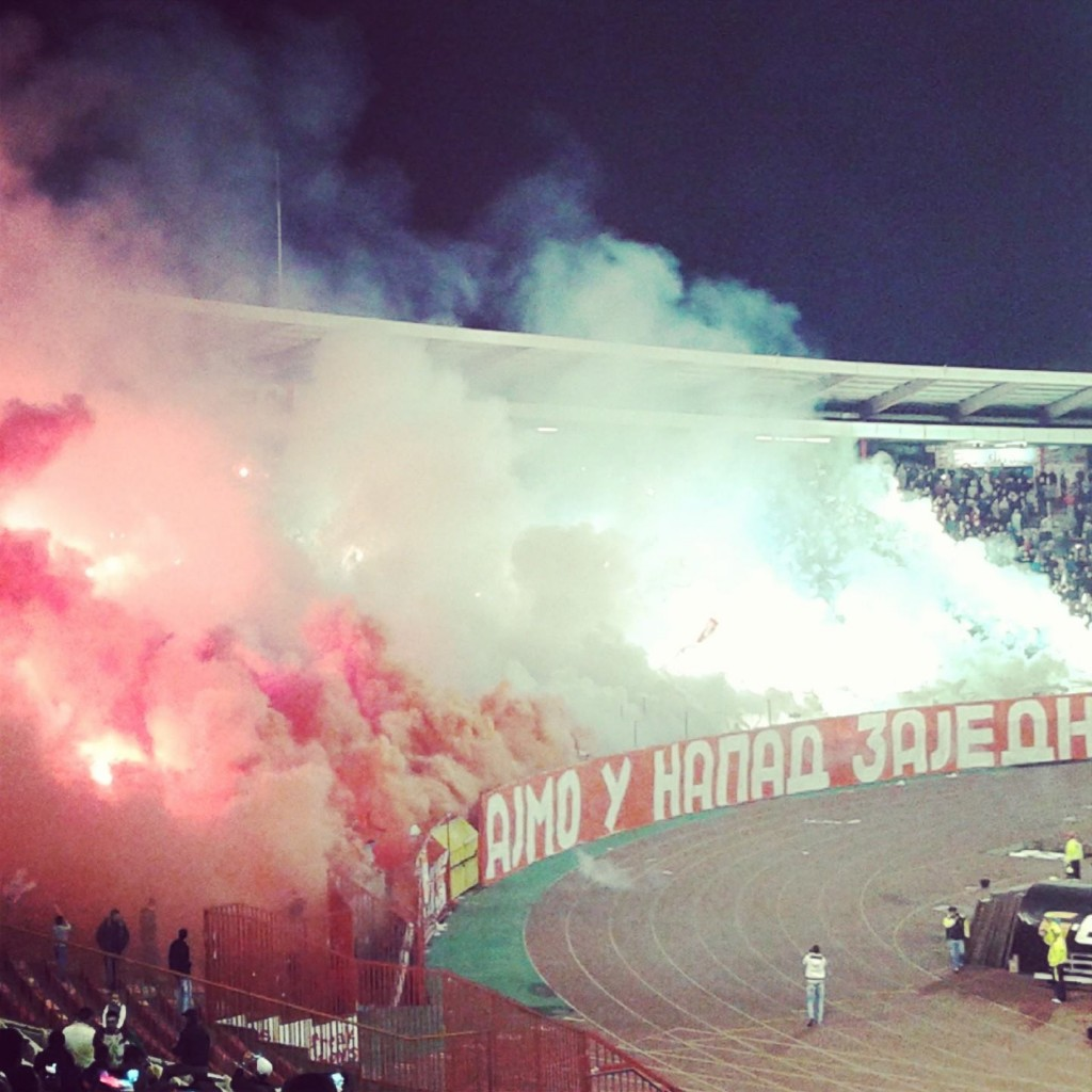 Delija na utakmici sa Čukaričkim