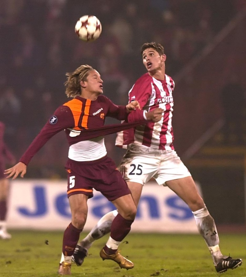 SPORT FUDBAL CRVENA ZVEZDA ROMA UEFA CUP Nikola Zigic 1.12.2005. foto: Pedja Milosavljevic