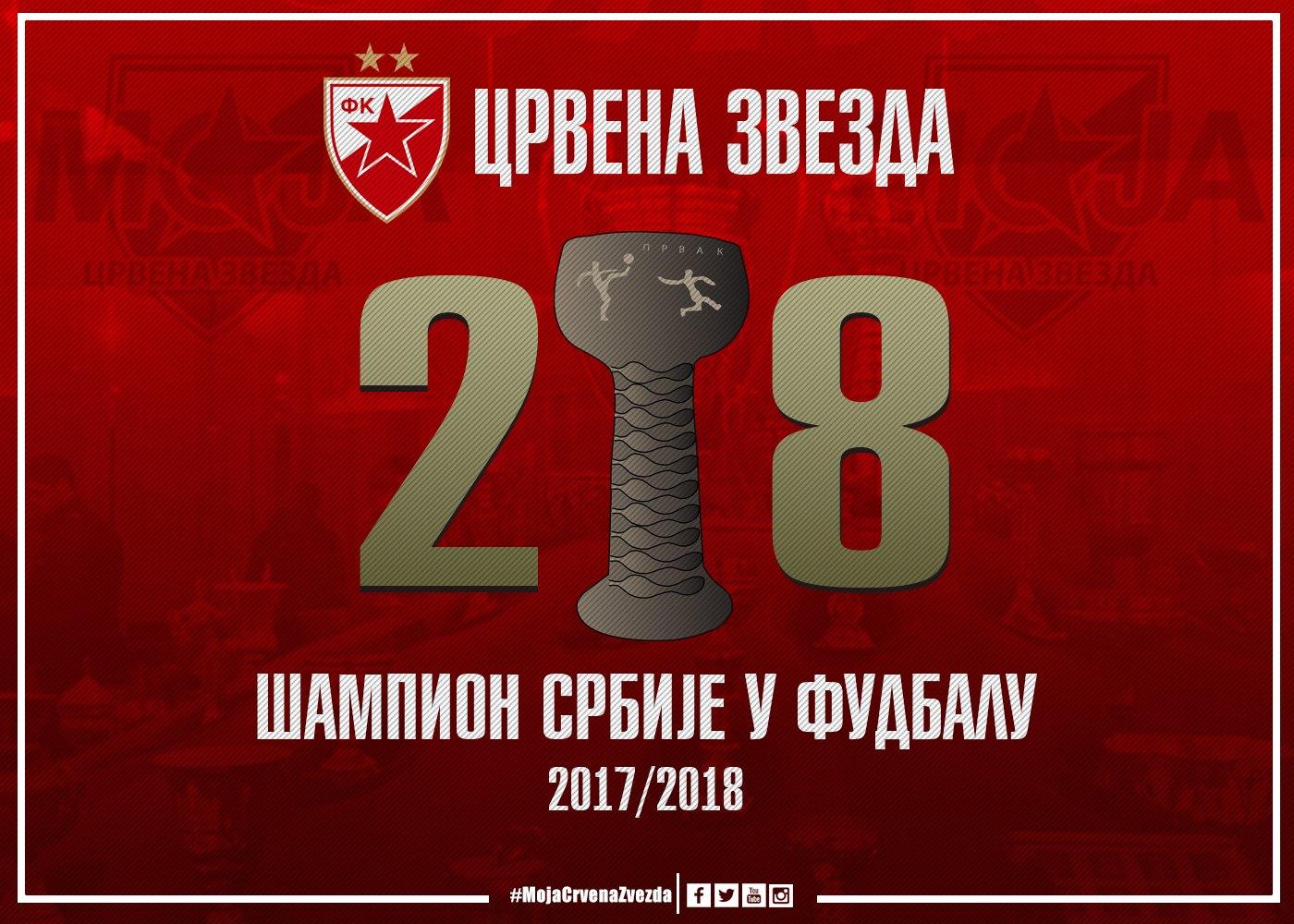 28! Црвена звезда је шампион Србије!